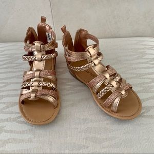 Sandals Girls Childs Size 10 Rose Gold Carters